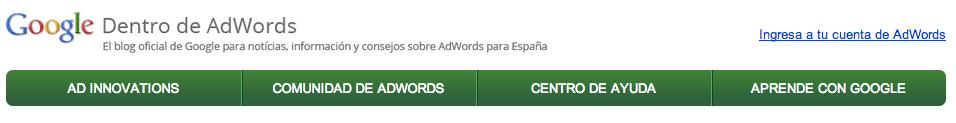 Google dentro de Adwords