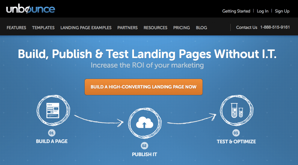 Unbounce - Landing Page Software Web