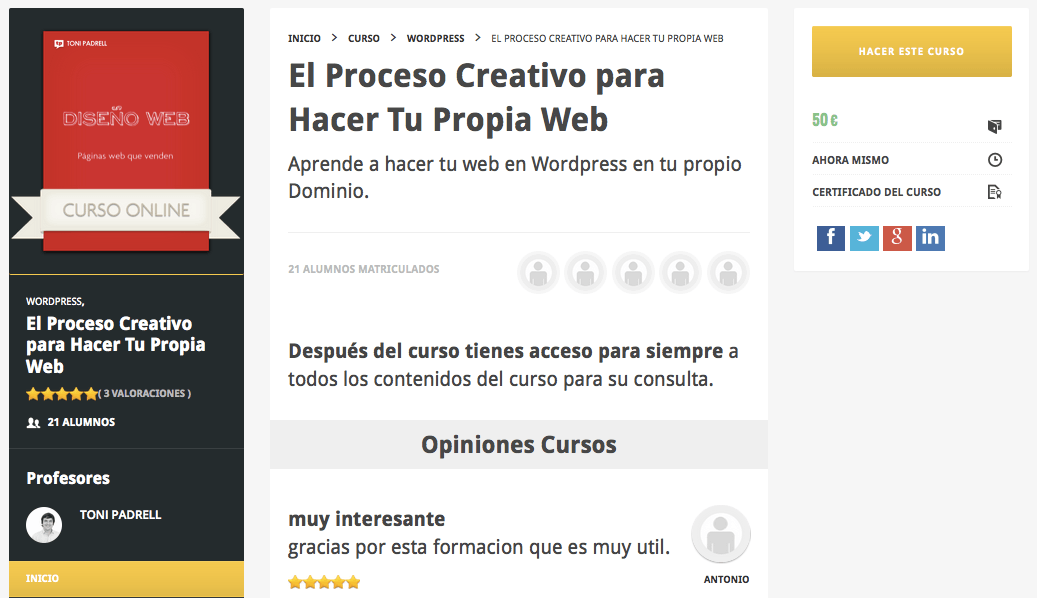 Curso Diseño Web WordPress