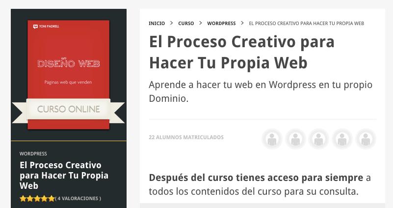 El proceso creativo para hacer tu propia web